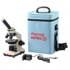 Микроскоп школьный Эврика 40х-1280х в текстильном кейсе